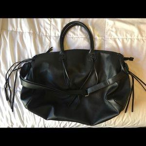 Weekender Fringe Faux Leather Bag